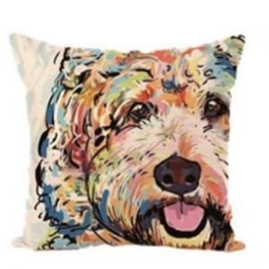 NWT Goldendoodle Pillow Cover